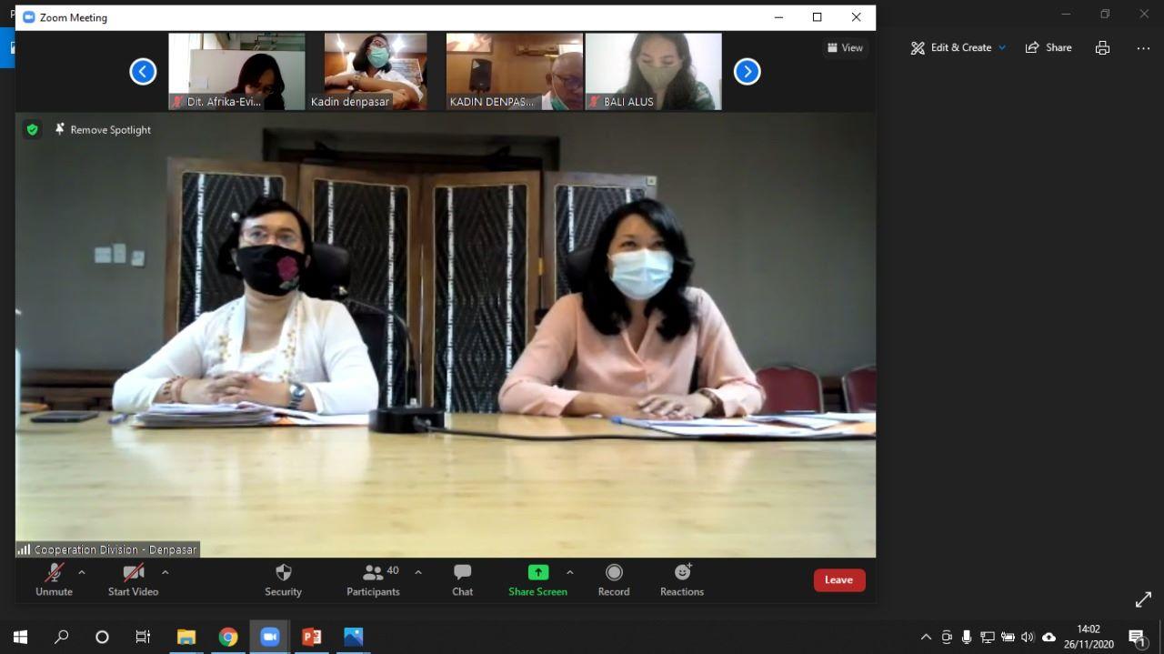 """Pemkot Denpasar Gelar """"Virtual Plan Action Sister City"""" dengan Mossel Bay Afrika Selatan"""