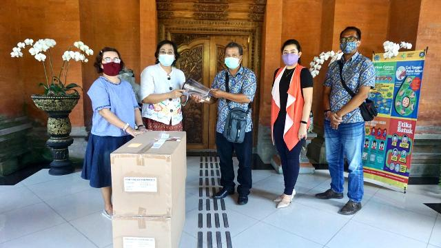 Pemkot Denpasar Terima Bantuan 200 Face Shield