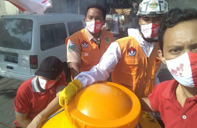 Angka Covid-19 Naik Turun, Buleleng Semprotkan Disinfektan