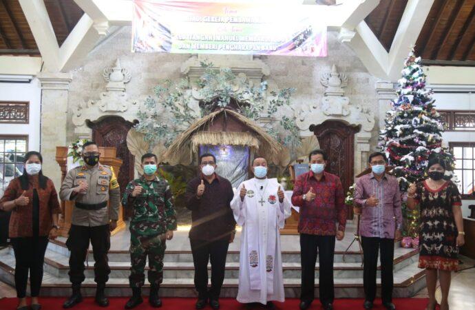Wabup Sanjaya Hadiri Perayaan Natal Umat Kristiani Tabanan