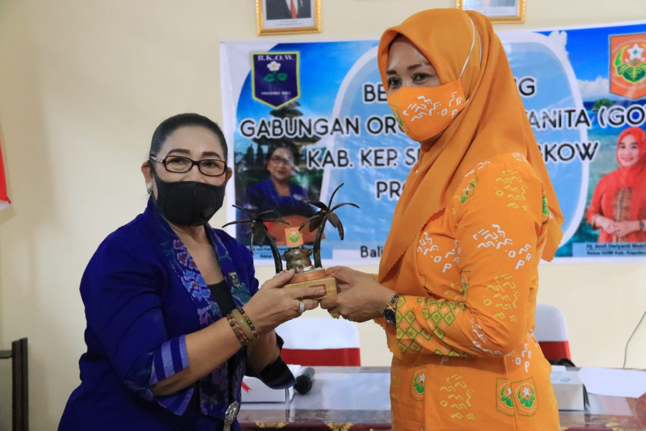 BKOW Provinsi Bali Terima Kunjungan GOW Kabupaten Kepulauan Selayar