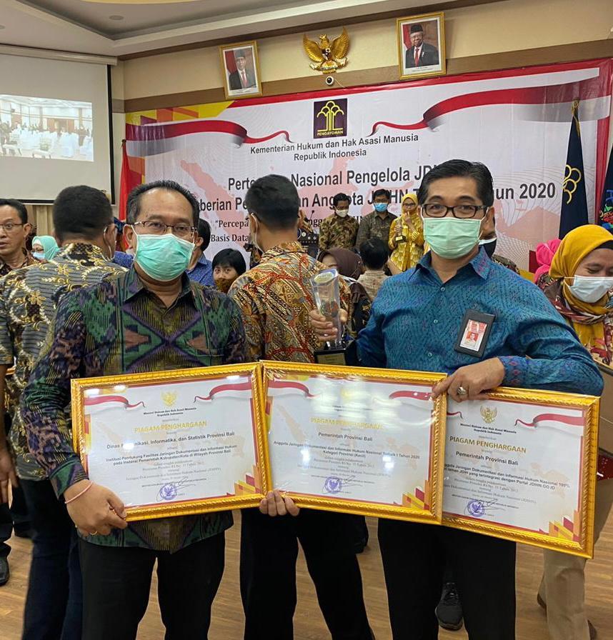 Bali Sabet Tiga Penghargaan dari Kemenkum dan HAM