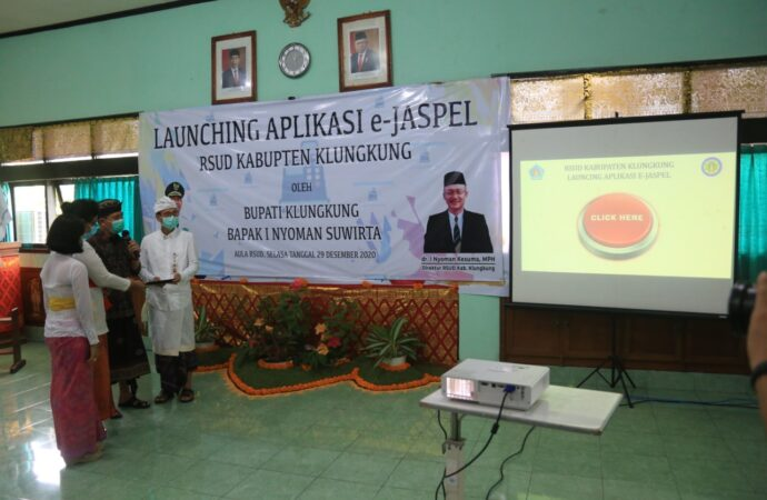 Bupati Suwirta Launching E-Jaspel RSUD  Klungkung