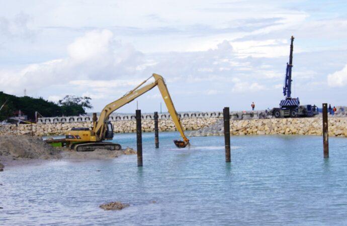 Progres Pelabuhan Sampalan Mencapai 51 Persen