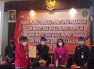 Komang Gede Sanjaya-Edi Wirawan, Bupati-Wabup Terpilih Tabanan