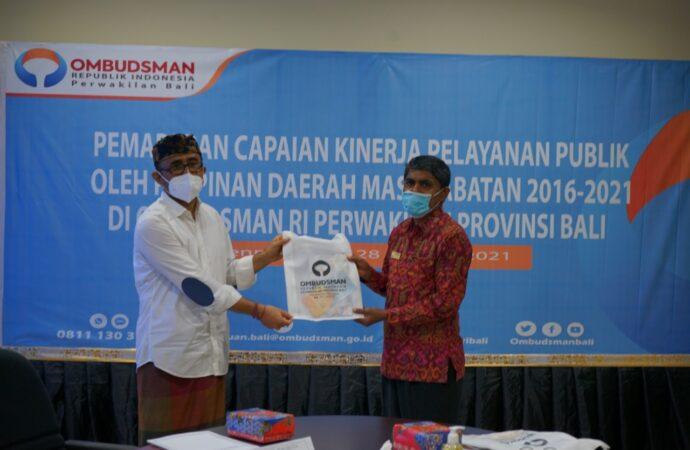 Pelayanan Publik Pemkot Denpasar Diapresiasi Ombudsman