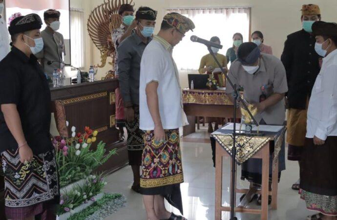 Anggota BPD Desa Bongkasa Pertiwi Dilantik