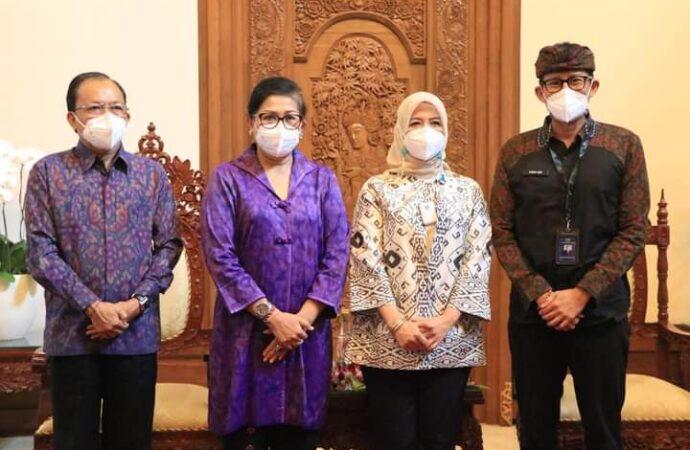 Gubernur Koster Perkenalkan Aplikasi balimall.id. Menparekraf Bantu Pemasaran di Jakarta