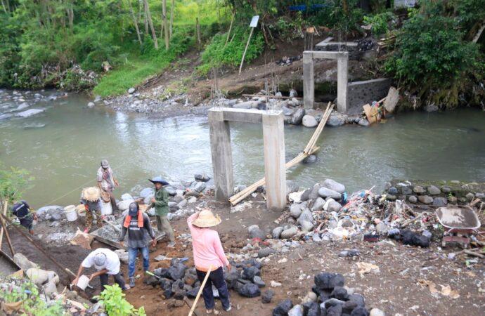 Jembatan JUT Subak Sidayu – Desa Satra Hampir Rampung