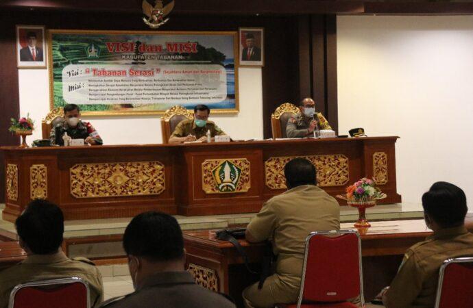 Tabanan Gelar Rakor Tindak Lanjut Penanganan Covid-19 dan Pemulihan Pariwisata Bali