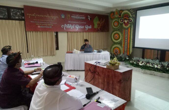 """Nyobyahang Artikel"" Uji Kemampuan Generasi Muda Menulis Artikel Bahasa Bali"