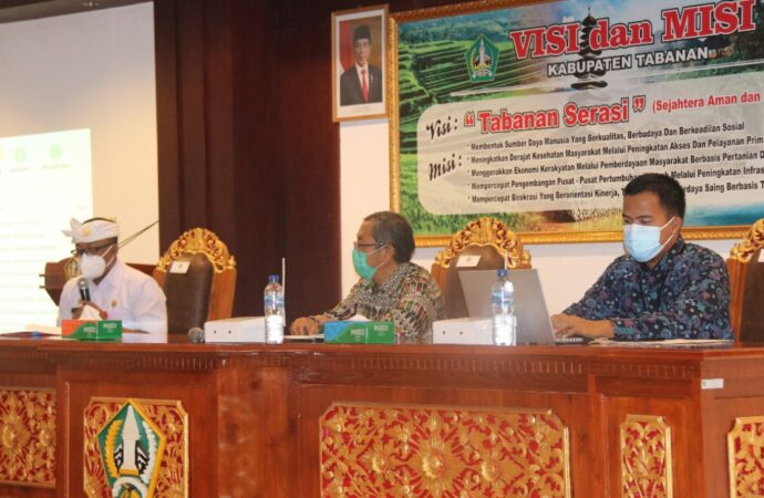 Ini Rakor Evaluasi Capaian MCP Tahun 2020 di Tabanan