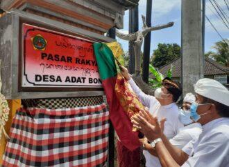 Pasar Desa Adat Bona Beroperasi Lag