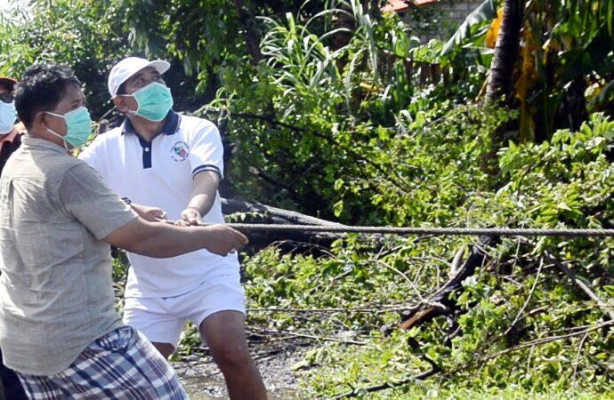 Wabup Kasta Tinjau Bencana di Sejumlah Wilayah di Klungkung