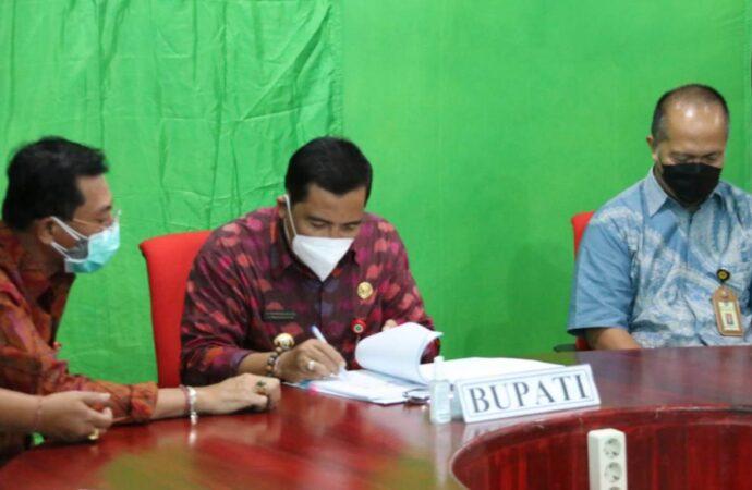 Bupati Sanjaya Tandatangani Perjanjian Kerjasama Soal Pajak