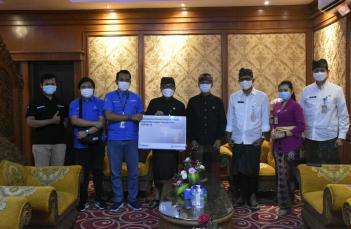 Pemkot Denpasar Terima Bantuan 4000 Pcs Masker