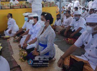 Pujawali Pura Dasar Gelgel, Ida Bhatara Nyejer Hingga Kamis 22 April 2021