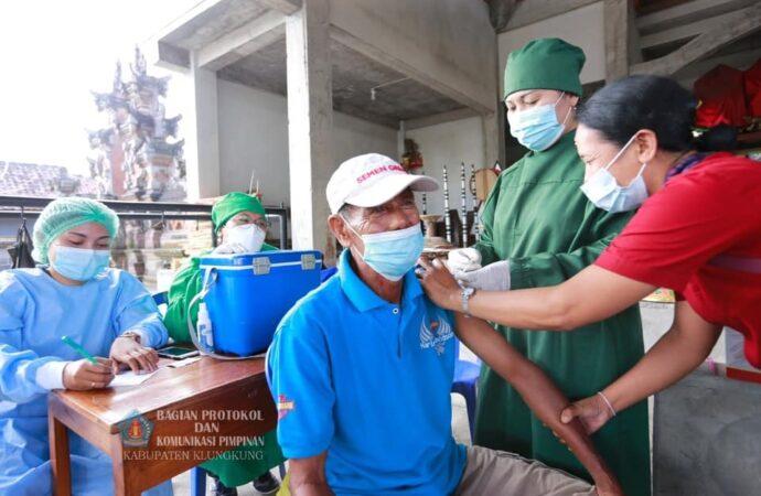 Wabub Kasta Monitoring Vaksinasi Lansia