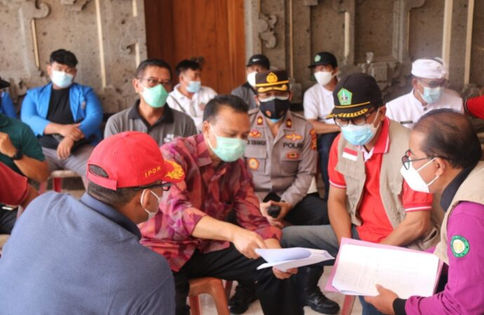 Pemprov Bali Tinjau Vaksinasi di Tabanan