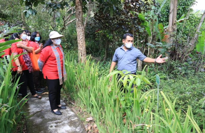 Jajaran BKOW Kunjungi IPSA Desa Bengkel Busungbiu