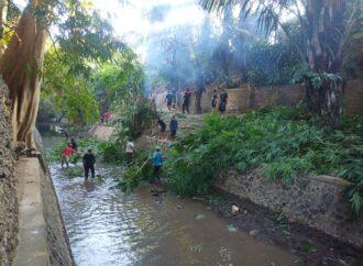 Tiga Banjar Bersihkan Tukad Lobong dan Junggut