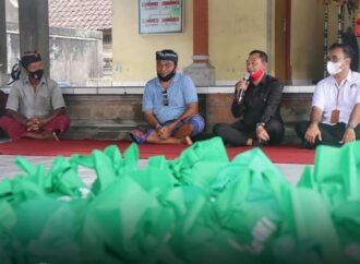 Bantuan Sembako untuk Masyarakat Kurang Mampu di Karangasem