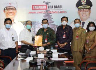Bupati Sanjaya Exit Meeting dengan Kepala BPK RI Perwakilan Bali