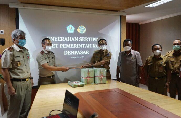 400 Sertifikat Tanah Aset Pemkot Denpasar dari BPN