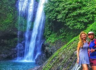 Beautiful and Cool Aling-Aling Waterfall at Sambangan