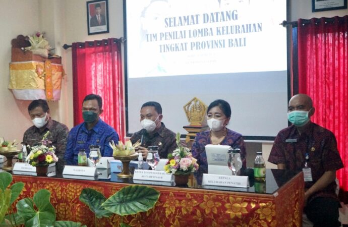 Kelurahan Penatih Ikuti Lomba Desa dan Kelurahan Tingkat Provinsi Bali 2021