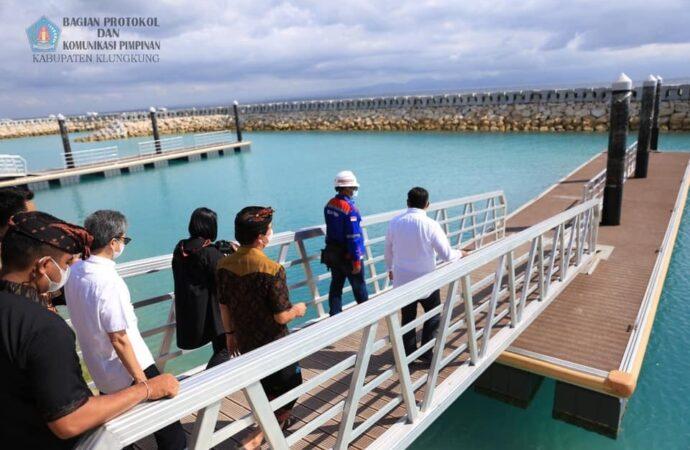 Proyek Pelabuhan di Nusa Penida Ditinjau Dirjen Hubdat  Kemenhub