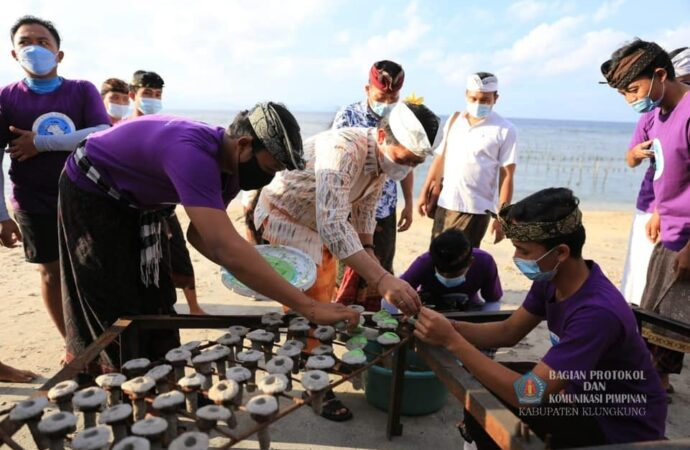 Komunitas Pecinta Karang Nuansa Pulau, Tanam 100 Bibit Karang di Nusa Penida