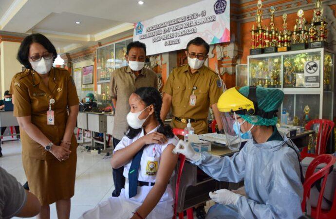 Walikota Pantau Vaksinasi Anak Usia 12-17 Tahun