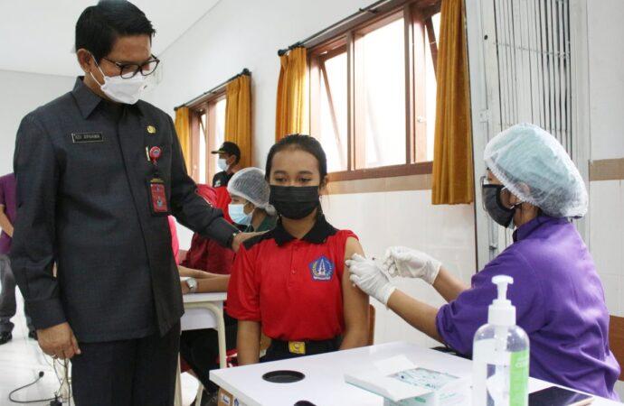 Vaksinasi Anak Umur 12-17 Tahun di Kuta Utara Sasar 200 Orang