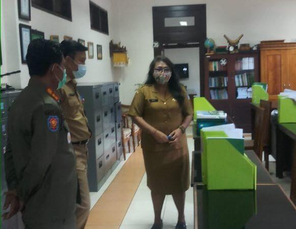 Sidak Pelaksanaan PPKM Darurat di Puspem Badung