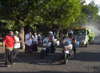Kota Denpasar Disemprot Eco Enzyme Selama 5 Hari Berturut Turut
