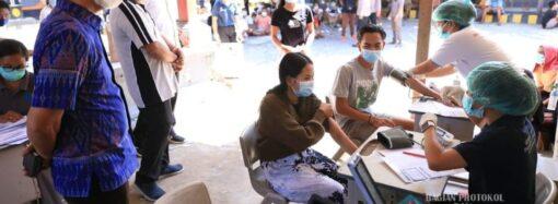 Warga Nusa Penida Antusias Mengikuti Vaksinasi Covid-19