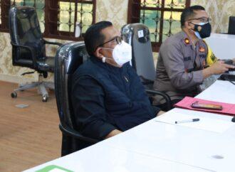 Bupati Tabanan Ikuti Rakor Evaluasi PPKM Se-Jawa-Bali