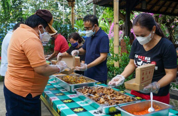 Jaya Negara Bersama Alumni Smansa'85 Dukung Operasional Dapur Umum Denpasar