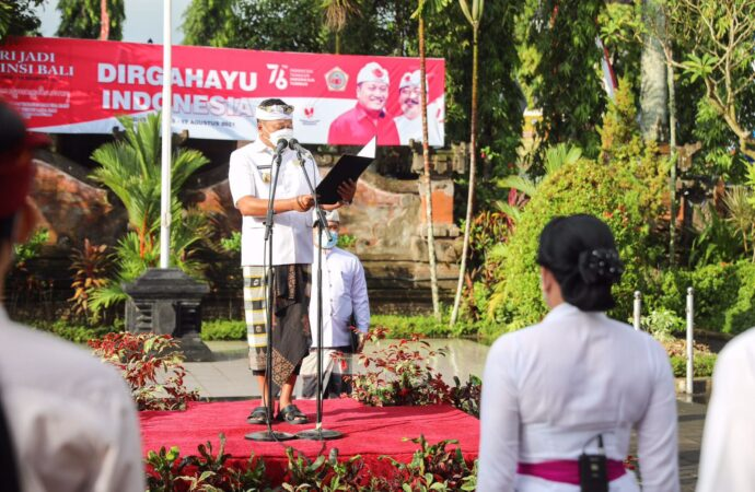 Di Gianyar, Peringatan Hari Jadi Provinsi Bali Diisi Kegiatan Tebar Bibit Ikan