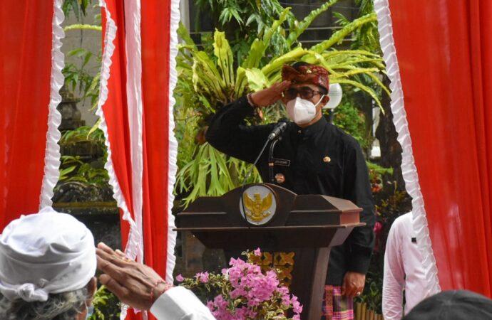 Jaya Negara Pimpin Apel Peringatan Hari Jadi Provinsi Bali ke-63
