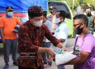 Donasi Pemkab dan ASN Klungkung di Kecamatan Nusa Penida