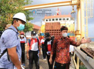 Sejumlah Proyek Fisik di Nusa Penida Ditinjau Bupati Suwirta