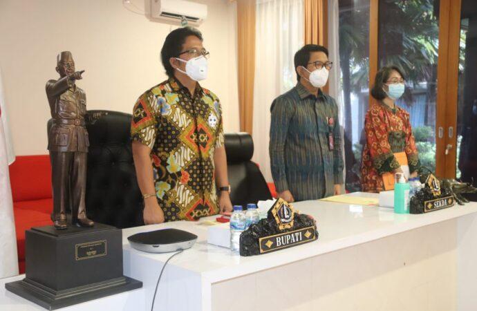 Bupati Badung Ikuti Launching MCP dan Rakorwasdanas