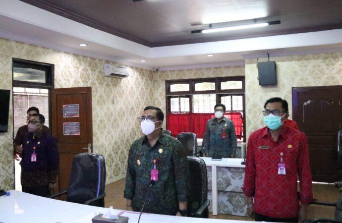 Bupati Tabanan Ikuti Launching Sinergitas Pengelolaan Bersama MCP dan Rakorwasdanas