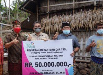 Bantuan Penampungan dan Pipa Penyaluran Air, Bagi Warga Kayu Wit, Seraya Tengah