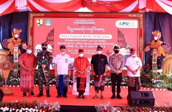 Peletakan Batu Pertama Pembangunan Shortcut Titik 7 dan 8 Singaraja-Mengwitani