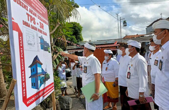Wawali Arya Wibawa Tinjau Pembangunan TPS3R di Desa Dauh Puri Kaja