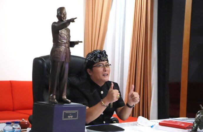 Bupati Giri Prasta Apresiasi dan Dukung Wakil Badung di Acara BRTV Bali TV 2021